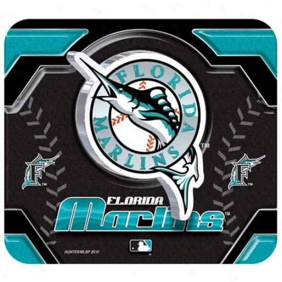 Florida Marlins Team Logo Neoprene Mousepad