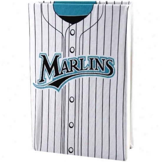 Florida Marlins White Pinstripe Jersey Stretchable Book Cover
