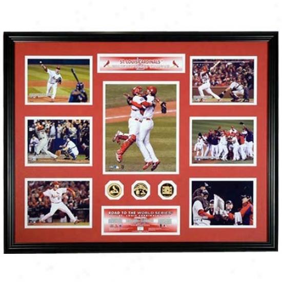 Highland Mint St. Louis Cardinals 2006 World Series Champs Mega Mint W/ Three 24kt Gold Coins