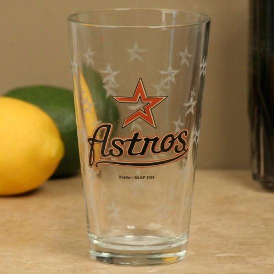Houston Astros 16oz. Satin Etch Pint Glass