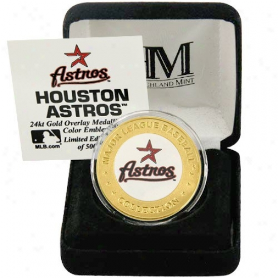 Houston Astrsp 24kt Gold And Team Color Mint Prop