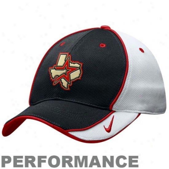Houston Astros Caps : Nike Houston Astros White Nikefit Adjus5able Performance Practice Caps