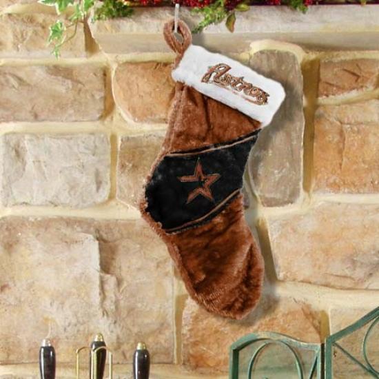 Houston Astros Colorblock Plush Stocking