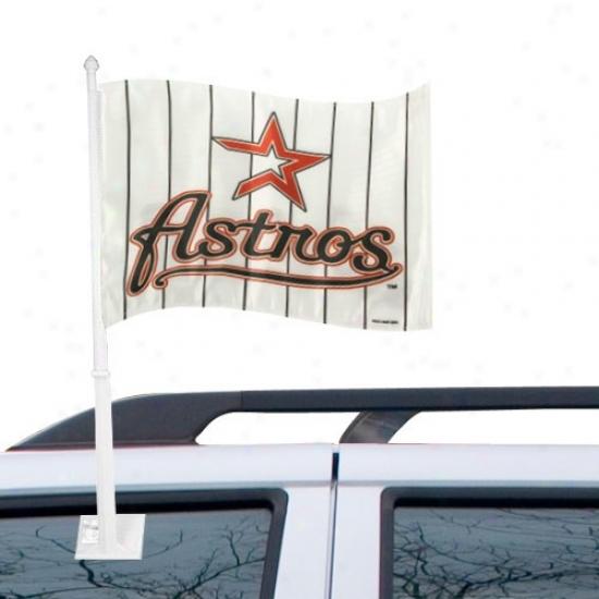 Houston Astros Languish : Houston Astros White Pinstripe Car Flag