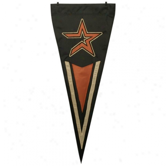 Housto Astros Flags : Houston Asrros Black Premium Quality Pennant