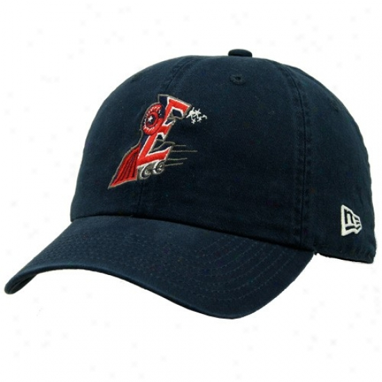 Houston Astros Gear: New Era Round oRck Express Navy Blue Basic Logo Adjustabpe Slouch Hat