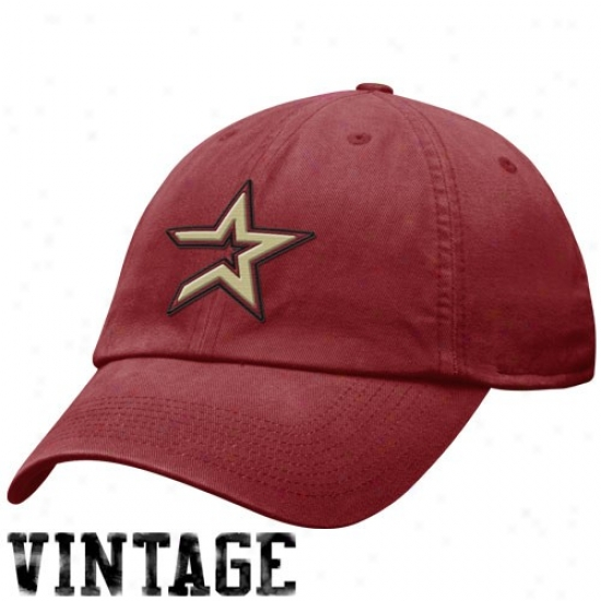 Houston Astros Gear: Nike Houston Astros Burgundy Relaxed Fit Adjustable Hat