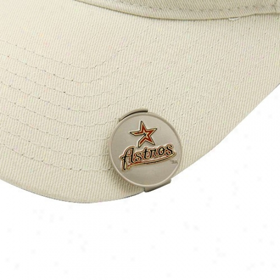 Houston Astros Golfer's Hat Shearing & Magnetic Ball Markers