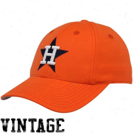 Houston Astros Hat : Houston Astros Orange 1971 Throwback Cooperstown Fitted Hat