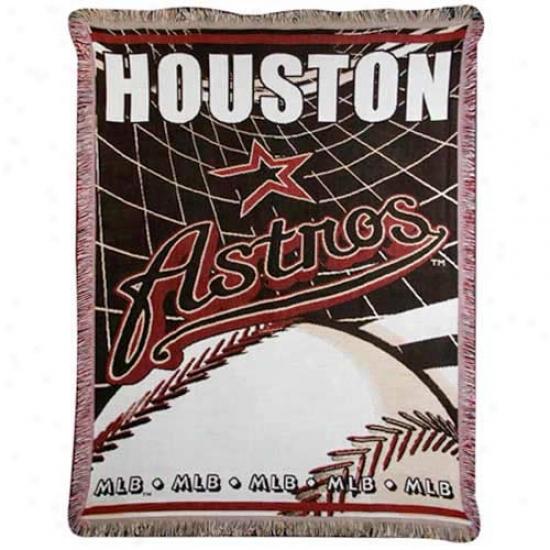 Houston Astros Jacquard Woven Blanket Throw