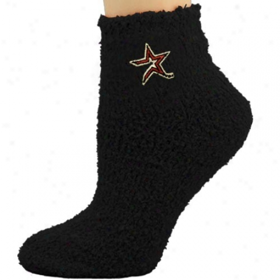 Houston Astros Ladies Black Sleepsoft Ankle Socks