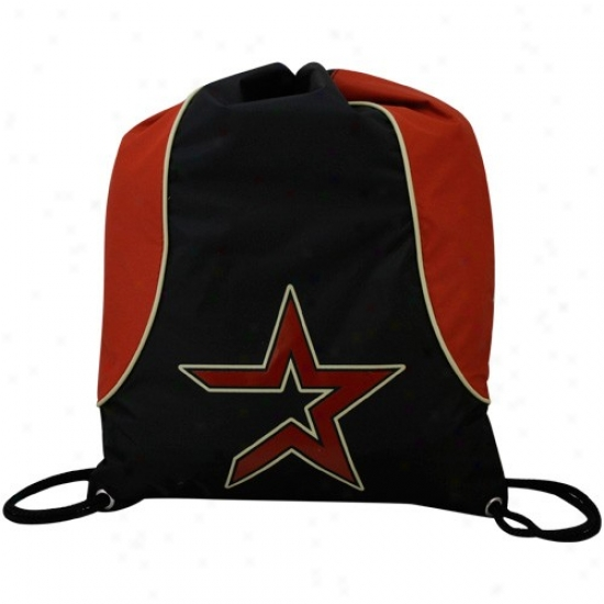 Houston Astros Red-black Axis Drawstring Backpack