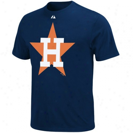 Houston Astros Shorts : Majestic Houston Astros Navy Blue Cooperstown Official Logo Shirts