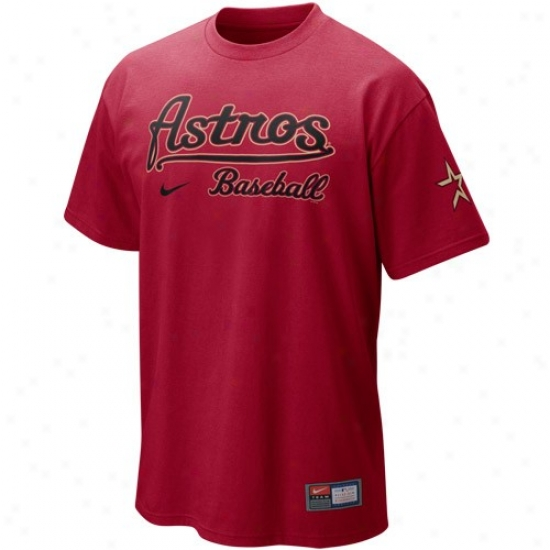 Houston Astros Tee : Nike Houston Astros Red Mlb 200 Exercise Tee