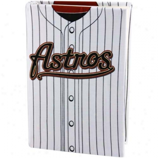 Houston Astros White Pinstripe Jersey Stretchable Book Cover