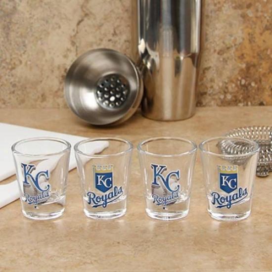 Kansas City Royals 4-pack Enhanced High Definition Design Shot Glass Set