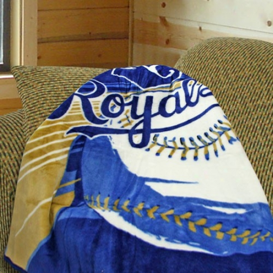 Kansas City Royals 50x60 Royal Big Stick Plush Blanket Throw