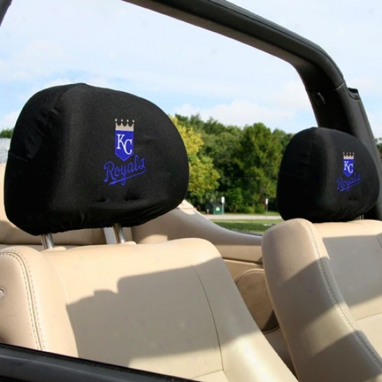 Kanszs City Royals Mourning 2-pack Headrest Covers