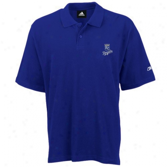 Kansas Cityy Royals Clothing: Reebok Kansas City Royals Royal Blue Pique Polo