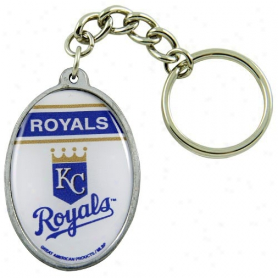 Kansas City Royals Domed Oval Keychain