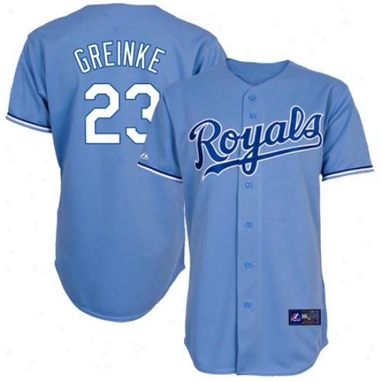 Kansas City Royals Jersey : Majestic Kansas City Royals #23 Zack Greinke Light Blue Replica Baseball Jersey