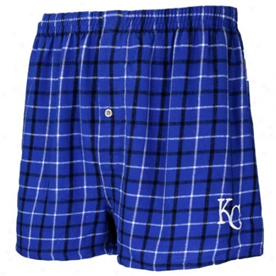 Kansas City Royals Royal Blue Gridiron Boxer Shorts
