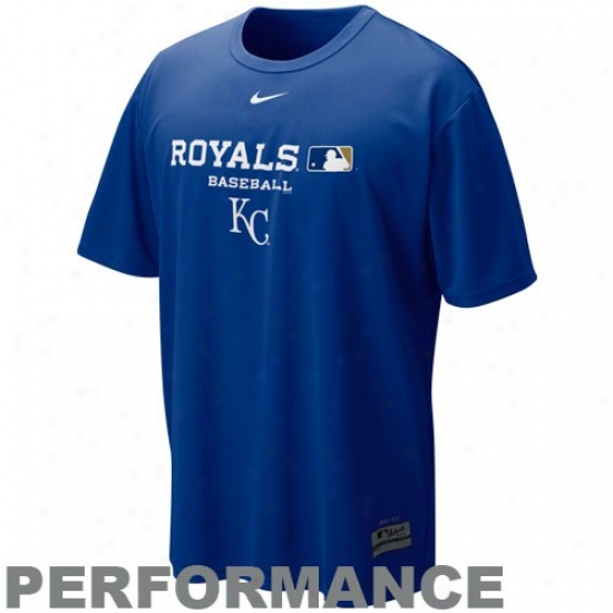 Kansas City Royals Shirt : Nike Kansas City Royals Royal Blue Nikefit Team Issue Performance Shirt