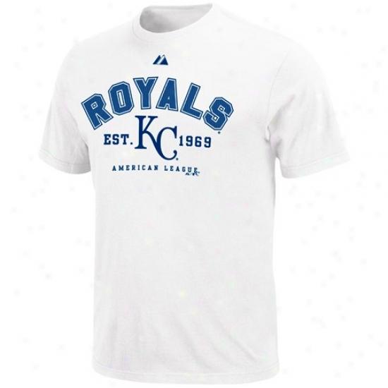Kansas City Royals Shirts  :Majestid Kansas City Royals Youth White Base Stealer Shirts