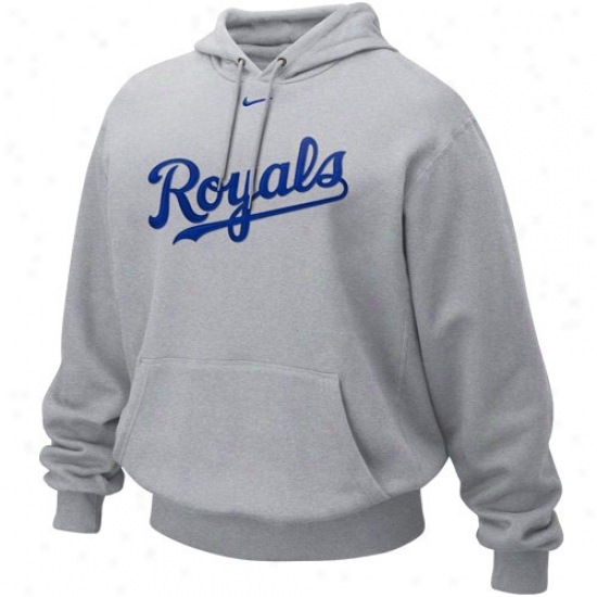 Kansas City Royals Sweatshirts : Nike Kznsas City Royals Ash Tackle Ii Sweatshirts