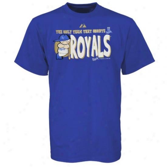 Kansas City Royals Tshirt : Majestic Kansas City Royals Royal Blue Youth Pip-squeak Tshirt