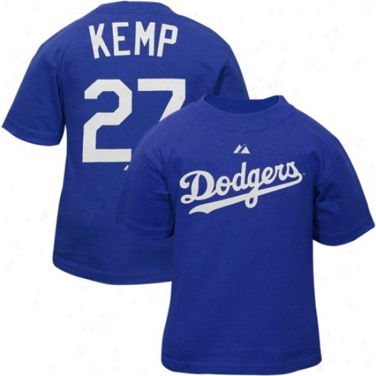 L.a. Dodgers Attire: Majestic L.a. Dodgers #27 Matt Kemp Infant Royal Blue Player T-shirt