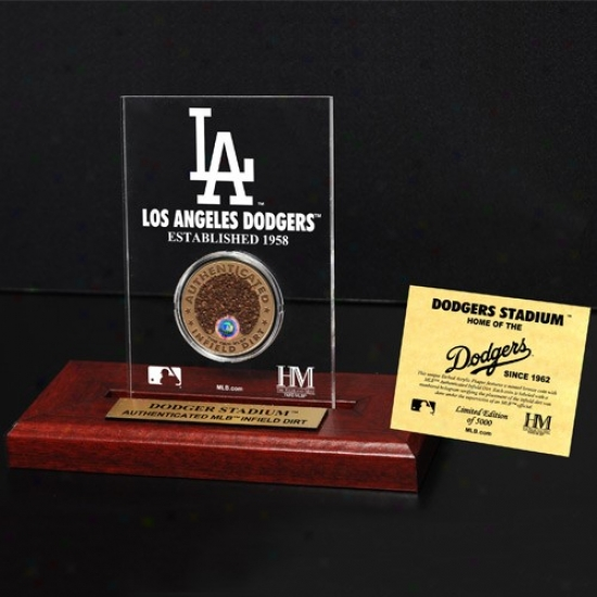 L.a. Dodgers Dodger Stadium Infield Dirt Coin Etched Actylic