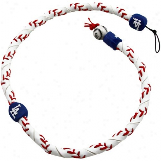 L.a. Dodgers Frozen Rope Basebaol Necklace
