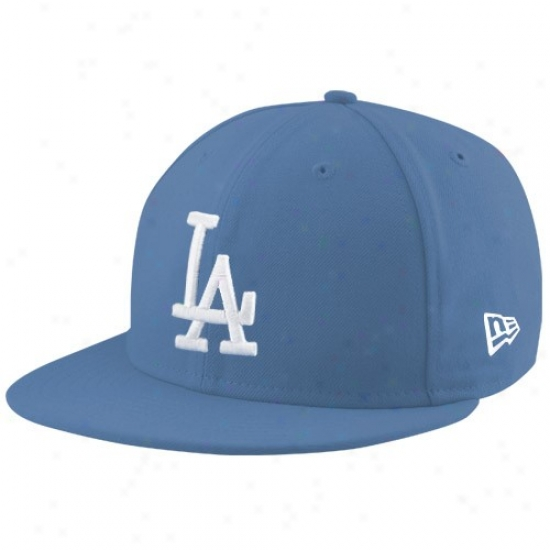 L.a. Dodgers Gear: New Era L.a. Dodgers Light Blue League 59fifty Fitted Hat