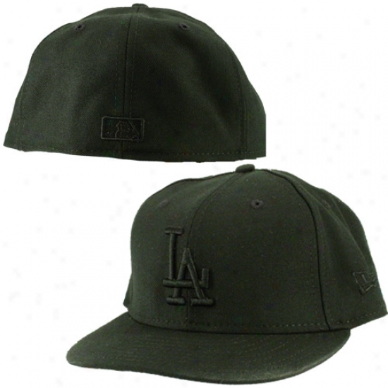 L.a. Dodgers Hat : New Era L.a. Dodgers Black Tonal 59fifty (5950) Fitted