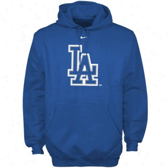 L.a. Dodgers Hoodie : Nike L.a. Dodgers Royal Blue Pre-game Hoodie