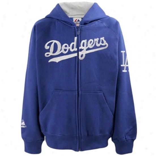 L.a. Dodgers Hoody : Majestic L.a. Dodgers Preschool Royal Azure Full Zip Hoody