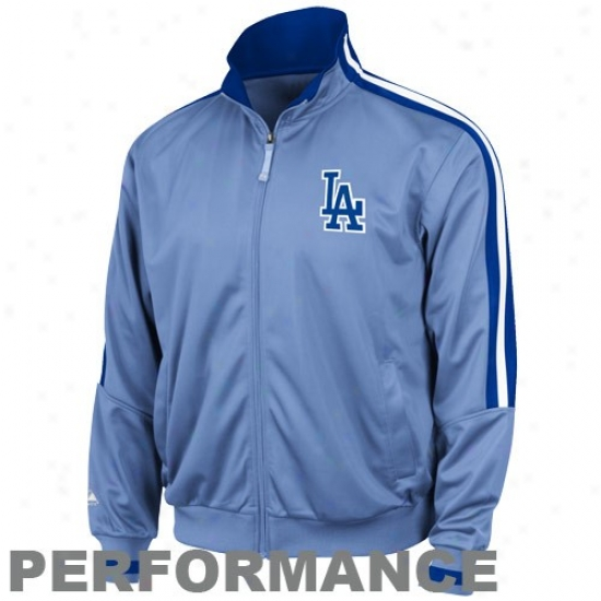 L.a. Dodgers Jacket : Majestic L.a. Dodgers Light Blue Cooperstown Therma Base Playing Premier Jacket