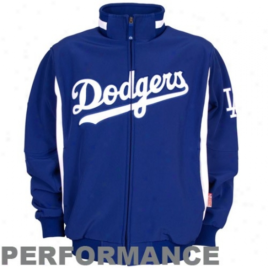 L.a. Dodgers Jacket : Majestic L.a. Dodgers Royal Blue Therma Base Premier Elevatioon Performannce Jacket