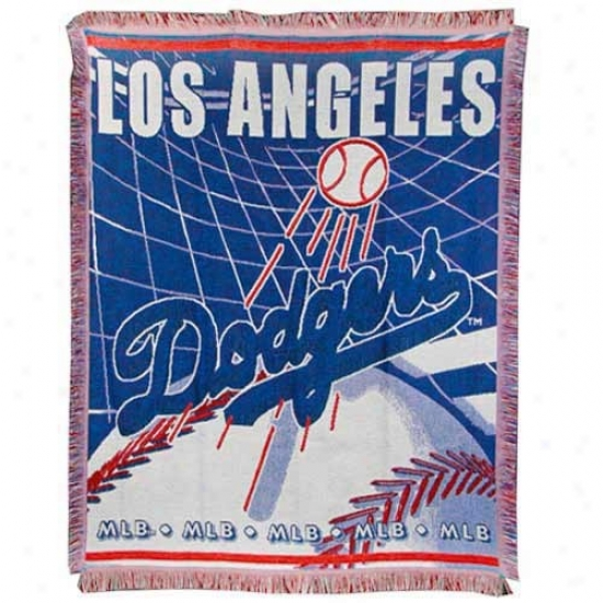 L.a. Dodgers Jacquard Woven Blanket Throw