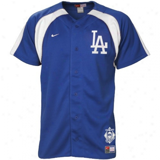 L.a. Dodgers Jersey : Nike L.a. Dodgers Yourh Royal Blue Home Plate Jersey