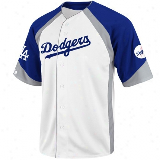 L.a. Dodgers Jerseys : Majestic L.a. Dodgers White-royal Azure Wheelhouse Baseball Jerseys