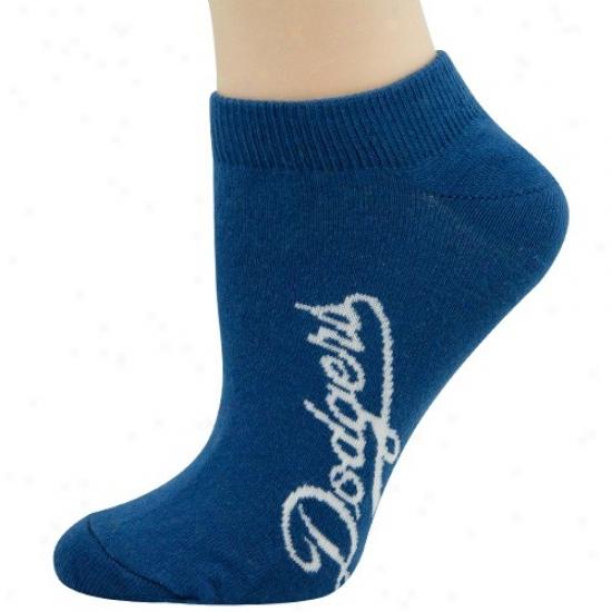 L.a. Dodgers Ladies Royal Blue Solid Copor Ankle Socks
