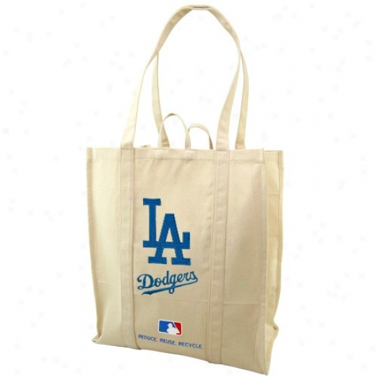 L.a. Dodgers Natural Resuable Organic Tote Bag