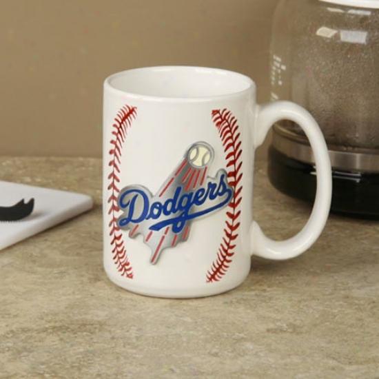 L.a. Dodgers Pewter Logo Baseball Coffeee Mug