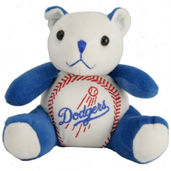 L.a. Dodgera Plush Team Colors Baseball Bear