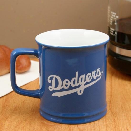 L.a. Dodgers Royal Blue 11oz. Ceramic Sculpted Mug