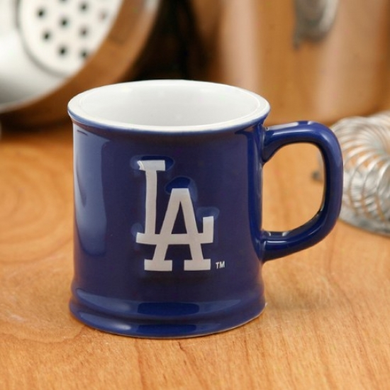 L.a. Dodgers Royal Blue 2oz. Ceramic Sculpter Mug Shot Glass