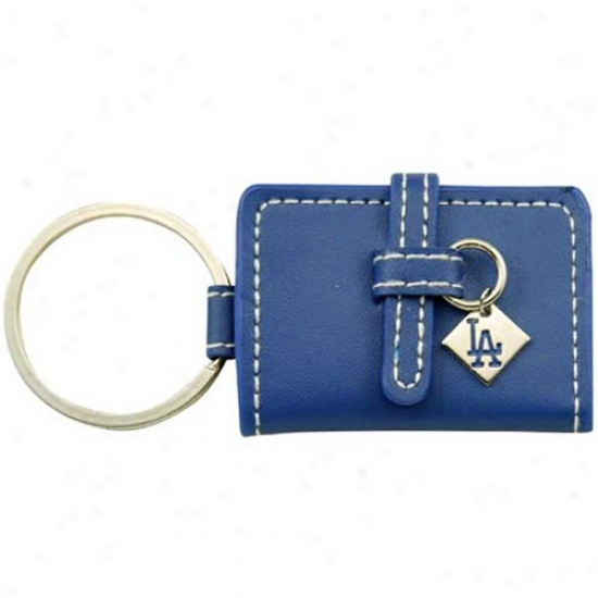 L.a. Dodgers Royal Blue Leather Photo Album Keychain