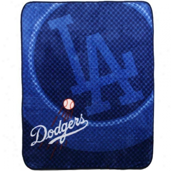 L.a. Dodgers Royal Blue Retro Royal Plush Blanket Throw